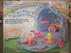 Vintage 1986 My Little Pony Figure Baby Bonnet School of Dance Playset  I still have mine!