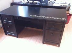 Sauder Office Port Executive Desk assembled in Washington DC by