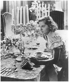 "The elegance of the table! joan fontaine in ""rebecca"" ..."