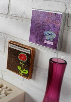 Delightful Glitter Mini Canvases