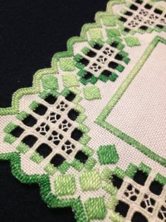 by Inspiria on Etsy Hardanger Embroidery, Paper Embroidery, Cross Stitch Embroidery, Types Of Embroidery, Embroidery Patterns, Couture Vintage, Crochet Doily Patterns, Crochet Doilies, Retro Fabric