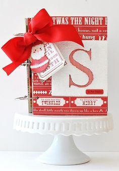 Peppermint mini-album - Scrapbook.com - #scrapbooking #minialbums #christmas #cratepaper