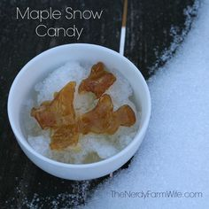Old Fashioned Maple Snow Candy - fun & easy to make!