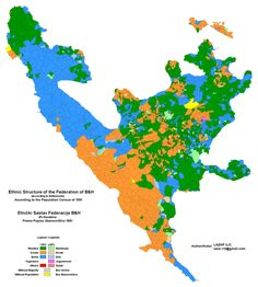 Changes in the Ethnic Structure of the Federation of Bosnia & Herzegovina - 1991 / 2013