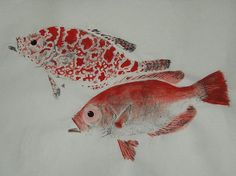 Squirrel fish gyotaku