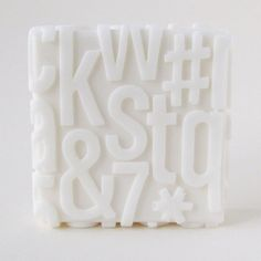 Typeface on soap