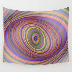 Spherical multicolor pattern Wall hanging or Tapestry. A happy and hypnosis wall tapestry with vibrant colors in beautiful ellipse shape. Click the link to find the colorful design on other objects like stickers, coffee mugs, frames and many moe. Ellipse Shape, Girls Coming Home Outfit, Wall Tapestry, Tapestry Design, Pink Garden, Hanging Wall Art, Wall Hangings, Newborn Headbands