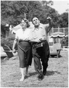 Moe Howard and his wife Helen Schonberger
