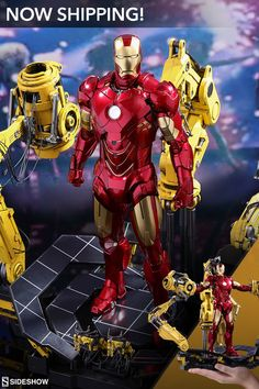 The Hot Toys Iron Man Mark IV with Suit-Up Gantry is now shipping! Check out the amazing detail and likeness of Robert Downey Jr!