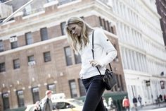 LOOKAST CHAPTER #5 - 2014 fall winter in New York _ white embossed cotton sweat shirt
