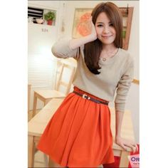 Orange Skirt.