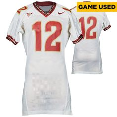 Florida State Seminoles Fanatics Authentic Game-Used White 1996-2000 White Screen Printed Football Jersey #12 - Size 44 - $199.99