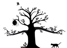 step by step drawing for a tree on wall | Grow A Tree On Your Wall! ∙ How To by Sarah P. on Cut Out + Keep