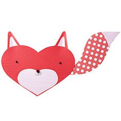 Animal-Shaped Valentine's Day Cards: Fox Valentine (via Parents.com)