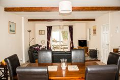 Dining area in Maxwelton, Porlock Log Burner, Dining Area, Relax, Cottage, The Unit, Ceiling Lights, Holiday, Furniture, Home Decor