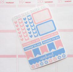 Rose Quartz & Serenity Planner Stickers Sampler by OldSoulPaperCo