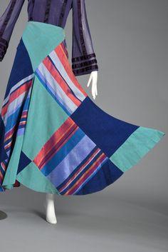 1970s Thea Porter Couture Patchwork Silk Skirt | BUSTOWN MODERN