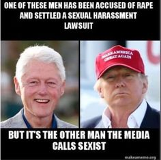 Despite what the corrupt media tells you, the actual perv is on the left.