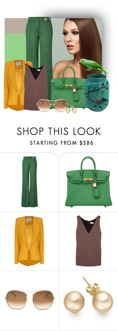 """""""Fresh Spring"""" by danewhite ❤ liked on Polyvore featuring RED Valentino, Hermès, Hebe Studio, Isa Arfen and Chloé"""