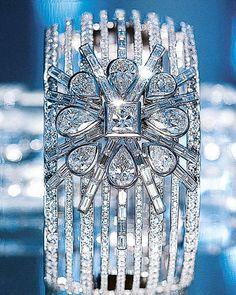 Chanel Fine Jewelry.  White gold and diamond cuff