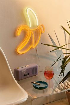 Shop Banana Neon Sign at Urban Outfitters today. We carry all the latest styles, colors and brands for you to choose from right here. Garage Lighting, Neon Lighting, Lighting Ideas, Decoration Inspiration, Room Inspiration, Decor Ideas, Gift Ideas, Neon Words, Marquee Lights