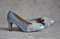 Lace wedding shoes Lace bridal shoes Blue by gorgeousweddingshoes