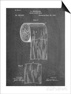 Toilet Paper Patent Lámina Magnetic Art