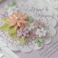 幸せを願うメッセージのフレーム🌸 #quilling #papercraft #paperart #flower #bestwishes #クイリング #ペーパーアート #ペーパークラフト #花 🌸