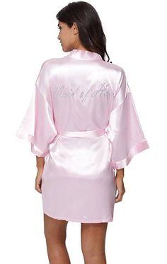 c3f0add9faa7 Women s Sleep   Loungewear - The Bund Women s Short Bride Bridesmaid Kimono  Robes for Wedding Party at Women s Clothing store