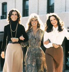 Farrah Fawcett, Jaclyn Smith, and Kate Jackson from 'Charlie's Angels'.