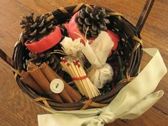 Green Gift Ideas: Pinecone Fire-starters