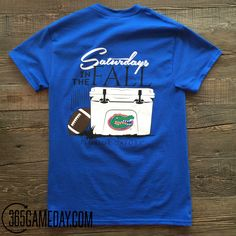 """Saturdays are great. Saturdays in """"The Swamp"""" are even better! Pre-Shrunk Cotton Uni-Sex Tee Officially licensed University of Florida T-Shirt ***NOT YETI BRAND*** Florida shirt, Gators shirt, Florida Womens Tee, Florida Mens Tee, Gators Yeti Fla Gators, Florida Gators Football, Gator Football, Gator Game, Yeti Brand, Football Fashion, Florida Girl, Lazy Outfits, University Of Florida"""