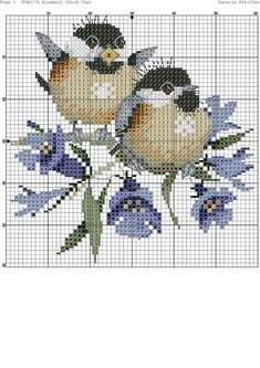 Image result for cross stitch birds patterns