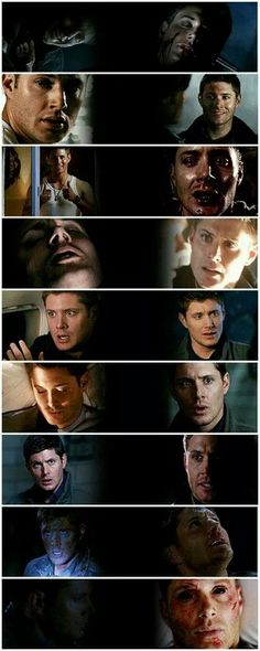 Dean Winchester first and last screen shot from season 1 - 9