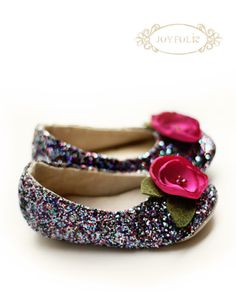 sparkling shoes for little girls...