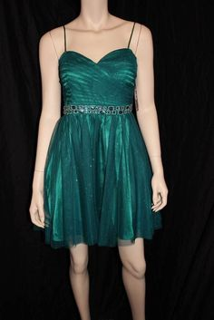Jump Apparel Emerald Green Party Dress Size 7 Prom Dress Formal Gown | eBay