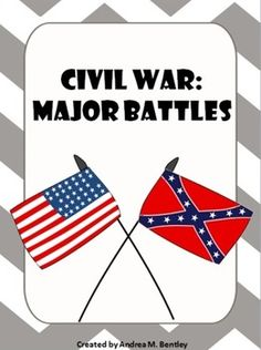 Civil War {Major Battle PowerPoint Presentation and Organizers} contains 50 pages total. There is a 25 page ppt covering major Civil War battles. There is a 25 page document with organizers to help your students organize the information for the major battles. ($)