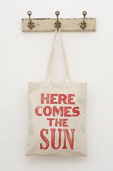 """""""Here come the sun""""-Stoffbeutel"""