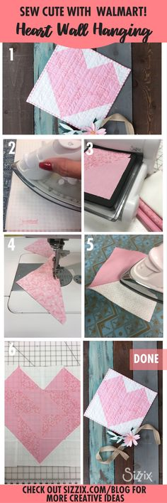 Have you started decorating for Valentine's Day? We love decorating for the holidays and today we've got a really fun project you'll want to sew immediately! This sweet wall hanging is just a few die cuts away! Check out our step by step instructions below!