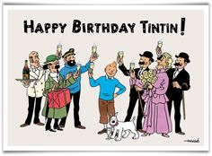 Herge and Tintin Stamps, Postal Stationery, Covers, and Philately Captain Haddock, Durham Museum, Frozen Wallpaper, Ligne Claire, Fantasy Comics, First Day Covers, Happy Birthday, 85th Birthday, Comic Books