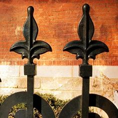 """Decorative Fleur de Lis Wood Plaque - Photo of 2 Fleur de Lis 11""""x11"""""""