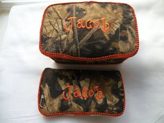 Large Diaper Nursery Wipe Tub Case with Matching Travel Wipee-over 250 fabrics-FREE PERSONALIZATION, Mossy Oak Camo on Etsy, $35.00