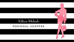 Trendy Personal Shopper Pink Woman Black and White Stripes Business Cards http://www.zazzle.com/trendy_personal_shopper_pink_woman_black_stripes_double_sided_standard_business_cards_pack_of_100-240161747685061918?rf=238835258815790439&tc=GBCShopper1Pin