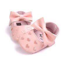 Grande Laço Bordado Amor Fundo Macio Crianças ShoesNon-slip Botas Recém-nascidos Bebês Prewalkers Sapatos de Bebê Sapatos Fundo Macio PU couro(China (Mainland))