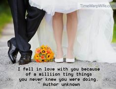I fell in love with you....    http://time-warp-wife.blogspot.com/