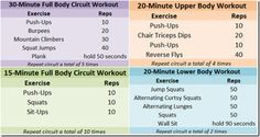 At home workout series with no equipment needed. ;)