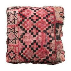 Moroccan Red Square Floor Pillow