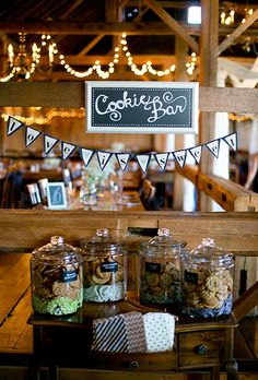 Brides: Creative Wedding Dessert Bar Ideas
