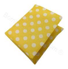 Sacchetto cuscino giallo pois bianchi Compleanno Fai da Te