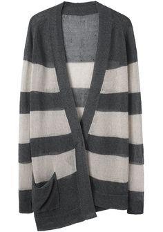 VPL / Striped Asymmetric Cardigan